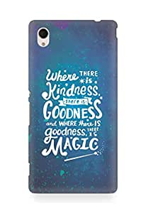 AMEZ where there is kindness there is goodness Back Cover For Sony Xperia M4