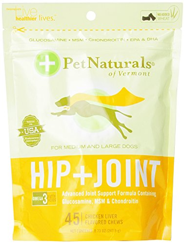 Pet Naturals Hip & Joint for Large Dogs (45 count) (Vermont Naturals Hip And Joint compare prices)