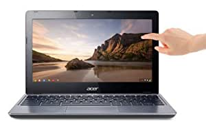 "Acer Chromebook C720P tactile 11,6"" Gris (Intel Celeron, 2 Go de RAM, Disque dur 32 Go, Chrome OS)"