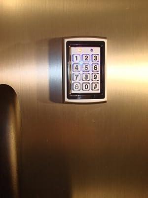 Keyless Refrigerator Lock System for a Single Door