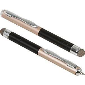 New Trent NT55T Twin Pack: Limir -Pen/Stylus (2 pcs), Capacitive for iPhone 5/4S/4, iPod Touch, New iPad (3rd and 4th gen) with Retina display / iPad 2 and iPad, Nexus 10 / Nexus 7 Samsung Galaxy Tablets/Smartphone, Motorola Tablets/Smartphones, Blackberry Tablet/Smartphone, Nook Color and all other devices with capacitive touch screens (IMP62B is the new 10mm longer version)