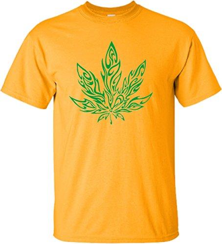 Small-Gold-Adult-Giant-Psychedelic-Pot-Leaf-Marijuana-420-T-Shirt