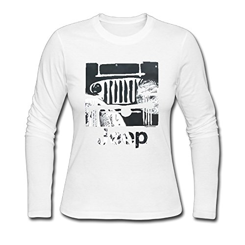 Jeep ragazza comoda camicia a maniche lunghe White XX-Large