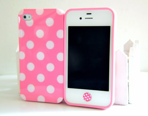 8pcs cute colorful white polka dots gel silicone case for Amazon gelbsticker