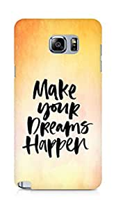AMEZ make your dreams happen Back Cover For Samsung Galaxy Note 5