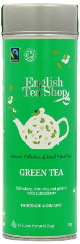 English Tea Shop Green Tea Fairtrade & Organic 15 Pyramid Tea Bags (Pack of 2)