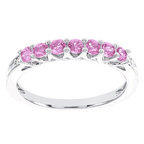 GemmaG-10k-White-Gold-Created-Pink-Sapphire-and-Diamond-Accent-Stackable-Ring-I-J-I1-I2
