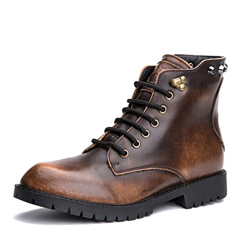 Autumn Melody Retro Men Martin Boots Personality Skull Design Stylish Rivet Short Boots Size 7.5 US Brown (Andis Clipper Guards 1 8 compare prices)