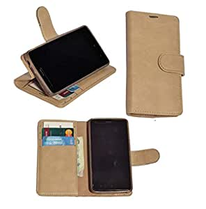 R&A Pu Leather Wallet Flip Case Cover With Card & ID Slots & Magnetic Closure For OnePlus X