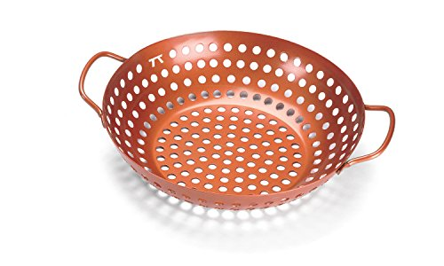 Copper Nonstick Round Grill Wok (Grill Wok Pan compare prices)