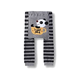 Wrapables Baby & Toddler Leggings, Panda Likes Milk - 12 to 24 Months
