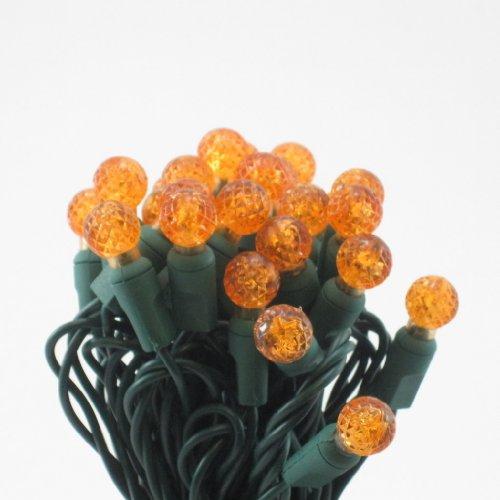 On Sale! Orange Led G12 Mini Christmas Lights, Professional Grade, Set Of 50 Bulbs.
