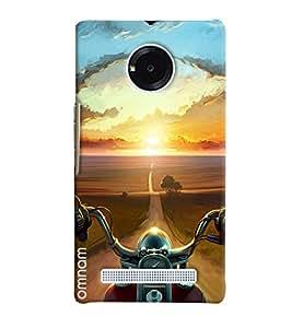 Omanm Road Lead To Sun Printed Designer Back Cover Case For Micromax Yunique