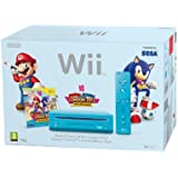 Nintendo Wii Console (Blue) with Mario and Sonic at the London 2012 Olympic Games (New Slim-Style) [Edizione: Regno Unito]