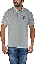 Le Beau Classics Men's Cotton Polo T-Shirts GR_008_ Heather Grey_L