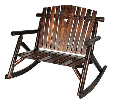 ASTONICA WOODEN STAR BENCH ROCKING CHAIR - 50108147