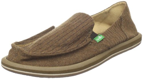 Sanuk Women's Vagabond Stitch Slip-On Loafer,Brown,11 M US