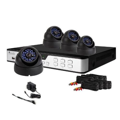 ZMODO Überwachungskamera Set 4CH DVR videoüberwachung System 600TVL Nachtsicht Überwachungskamera Sicherheitssystem keine Festplatte