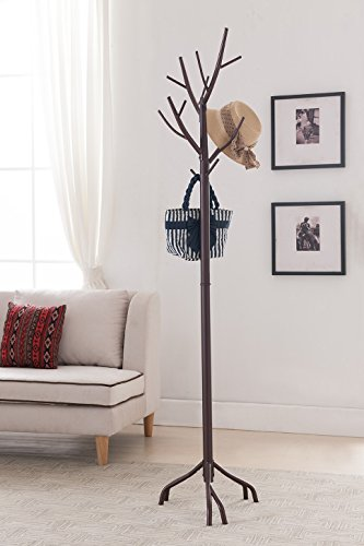 Kings Brand Bronze Finish Metal Hall Tree Coat & Hat Rack with Branches (Coat Rack Tree compare prices)