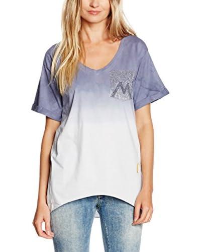 MELTIN'POT Camiseta Manga Corta Azul Oscuro / Blanco M