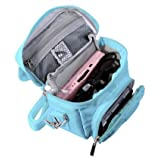 G-HUB game and Console Travel Bag for Nintendo DS Consoles with Shoulder Strap, Carry Handle, Belt Loop (Blue) (Color: BLUE)