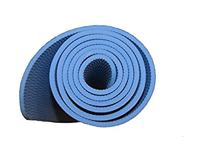 """Yoga mat 6mm XL and extra thick by Tranquil Tree includes yoga mat strap. Extra Long 72"""", High-density, Durable, Eco-friendly TPE exercise yoga mat Odor-free, Latex-Free for pilates, workouts, camping and more!"""