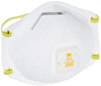 3M 27533520 3M 8511PB1-A Sanding and Fiberglass Respirators With Cool Flow Valve 10 Pack, N/A