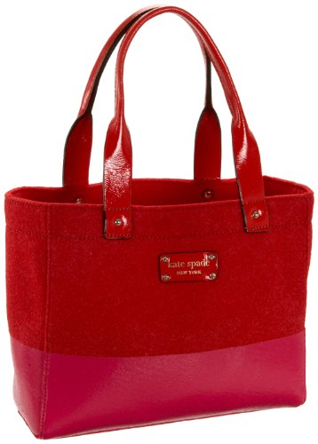 Kate Spade Frosted Felt Quinn Tote,Modern Red,one size
