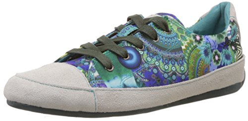 Desigual SHOES LOLA, Low-Top Sneaker donna, Turchese (Türkis (5024)), 36