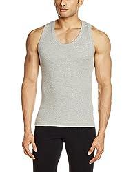 Lakomfort Men's Cotton Vest (Slender _Small_Melange)