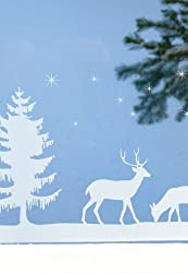 Martha Stewart Crafts Deer Family Window Cling