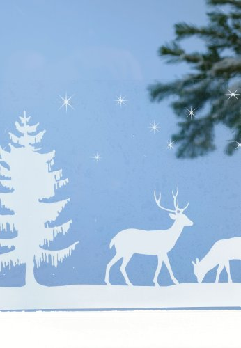 Martha Stewart Craft Deer Family Window Cling