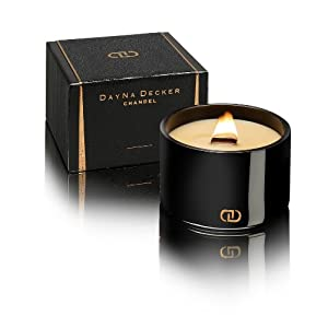 Dayna Decker Couture Chandel Candle,  Jacaranda Blossoms, 16 Ounce
