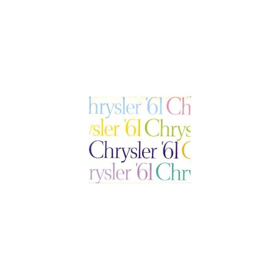 1961 Chrysler Sales Brochure Literature Book Advertisement Options Specs