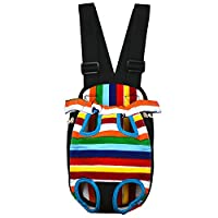 Pet Cuisine Rainbow Front Chest Travel Backpack Small DogsPuppy Cats Legs Out/front Carrier Bag