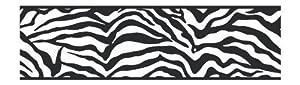 York Wallcoverings Friends Forever JE3672B Girly Glam Zebra Pre-Pasted Wallpaper Border, Black Color: Black, Home Improvement Tool from York Wallcoverings