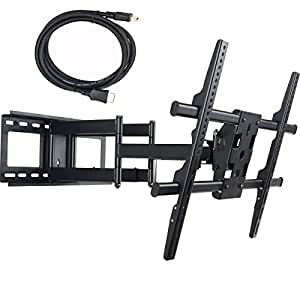 """VideoSecu Swivel TV Wall Mount for 37~65"""" Flat Panel TV (25"""" Extension!) B06"""