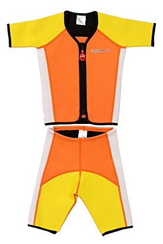 Cheekaaboo Little Boys' Thermal Swimsuit Kiddy Twinwet Suit 2-4 Years Orange/ Yellow (Thermal Swimsuit For Baby compare prices)