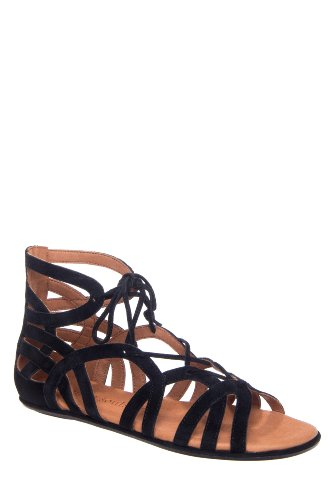 Gentle Souls Break My Heart Lace Up Gladiator Flat Sandal