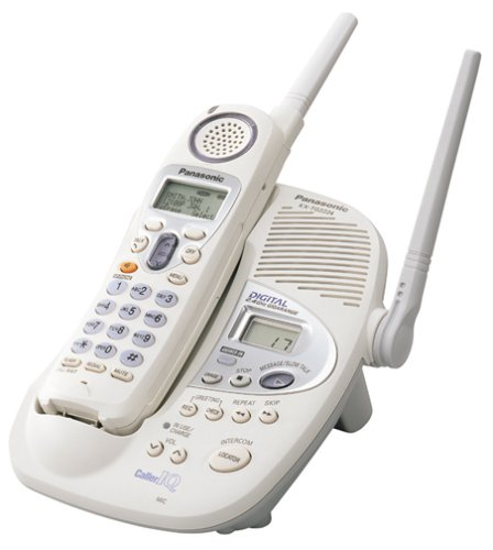 Panasonic KX-TG2224W 2.4 GHz Digital Cordless Phone with Digital Answering System (White) (Panasonic Phone Shoulder Rest compare prices)
