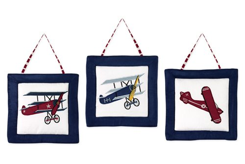 Vintage Aviator Airplane Wall Hanging Accessories By Sweet Jojo Designs front-223992