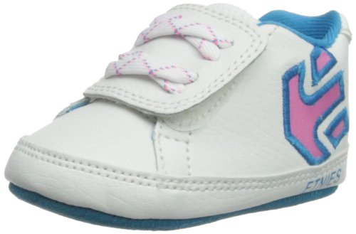 Etnies Fader Crib Shoe (Infant/Toddler),White/Clear Pink,3 M Us Infant