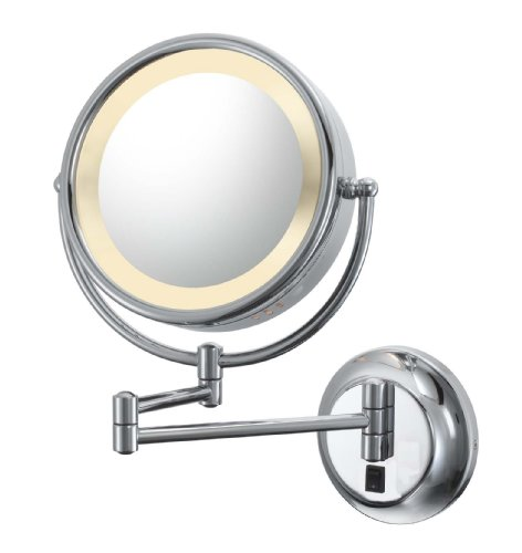 Kimball & Young Lighted Reversible 5x/1x Hardwired Makeup Mirror