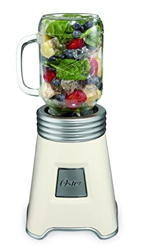 Oster Blend N Go Mason Jar Blender, with (2) 20 oz. BPA-free Plastic Jars, White