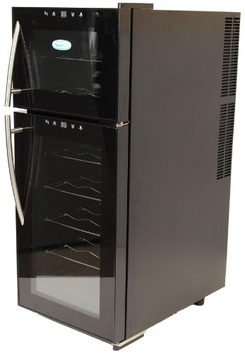 NewAir AW-210ED NewAir Thermoelectric Wine Cooler With Dual Temperature Zones