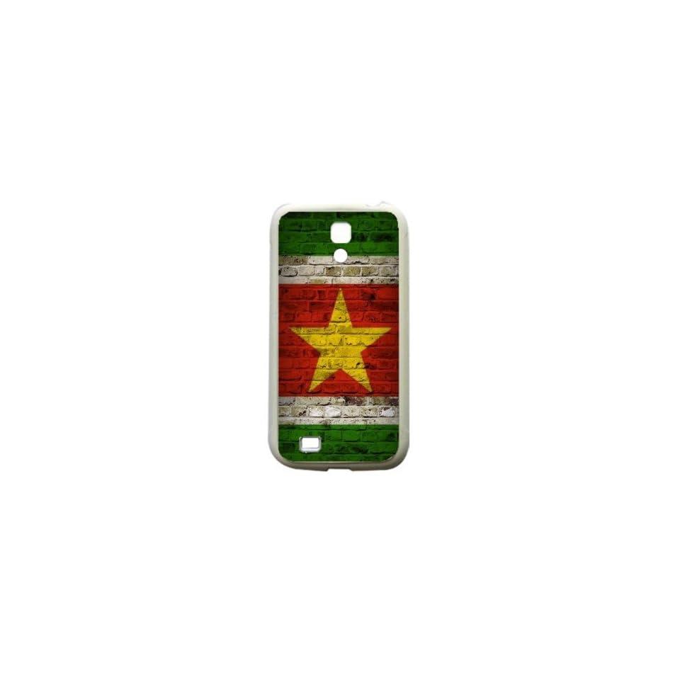 Suriname Brick Wall Flag Samsung Galaxy S4 White Silcone Case   Provides Great Protection