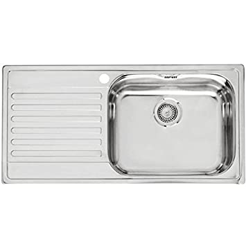 Reginox Minister 10 Matt Finish Stainless Steel Kitchen Sink Left Hand Drainer by Reginox