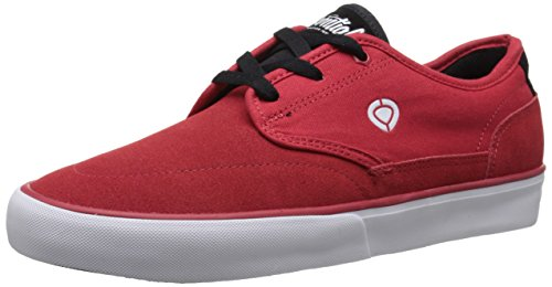 C1RCA Men's Essential Skate Shoe, Red/Black/White, 7 M US