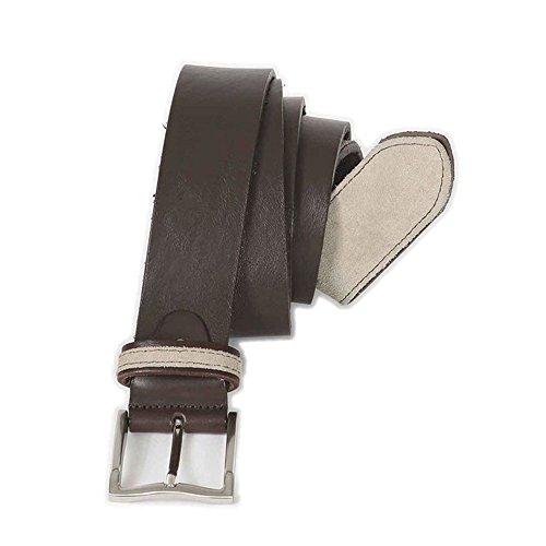 Cintura taglie forti uomo Maxfort 1-XF in cuoio e inserti scamosciati - Marrone, 180 CM