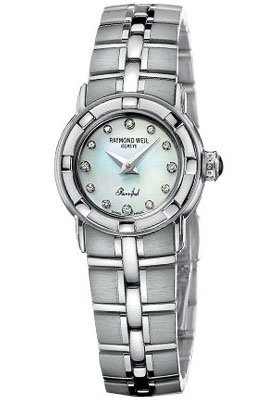 Raymond Weil Parsifal Women's Stainless Steel White Mother-Of-Pearl Dial Quartz Watch 9641-ST-97081